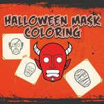 Halloween maszk kifestőkönyv játék