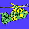 Schwere militärische Hubschrauber Färbung Spiel