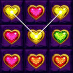 Heart Gems Connect game