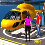 Helicopter Taxi Tourist Transport game