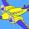 Hoog vliegen vliegtuig kleuren spel