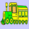 Historic fast train coloring game