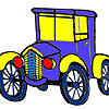 Historical village car coloring game