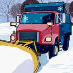 Fulgi de zăpadă ascunse în camioane plug joc