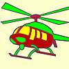 Hot helicopter coloring game