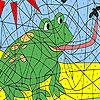 игра Голодным лягушки раскраски