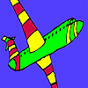Interesting airplane coloring game