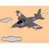 Jet Fighter Coloring game