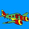 игра Реактивный самолет раскраски