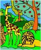 dzsungel színezés játék