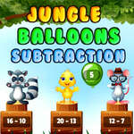 Soustraction de ballons de jungle jeu