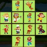 Jungle Cartes Match jeu