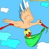 Kinder Malvorlagen Storch und Entlein Spiel