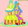 Casa de turtă dulce de colorat pentru copii joc