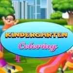 Colorear jardín de infantes juego
