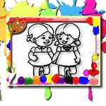 Деца оцветяване време игра