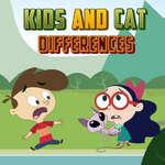 Kinder- und Katzenunterschiede Spiel