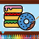 Kids Coloring Bakery game