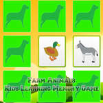 Kids Learning Farm Animals Memory game