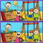 Diferențe foto copii joc