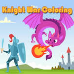 Knight War Coloring Spiel