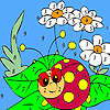 Ladybug in the garden coloring game