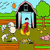 игра Ягнята фермы окраски