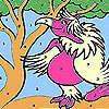 Лейди розов папагал оцветяване игра