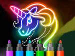 Lernen Sie, Glow Cartoon zu zeichnen Spiel