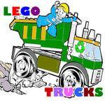 Lego nákladné automobily sfarbenie hra