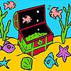 Piccoli pesci nella colorazione casella gioco
