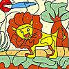 Pequeño León para colorear juego