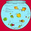 Kis halak a akvárium színezés játék