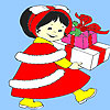игра Маленькая девочка день рождения подарок окраски