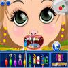 Meisje bij de tandarts spel