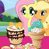 Kleines Pony-Eis Spiel