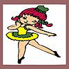 игра Маленькая балерина раскраски