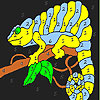 Lizard in the tree coloring game