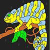 Eidechse im Baum Färbung Spiel