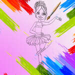 Little Ballerinas Coloring game