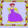 Eenzame prinses in het paleis-kleuren spel