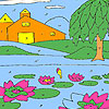 Lotus garden coloring game