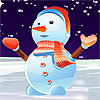 Lovely Snowman Dressup game