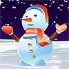 Precioso muñeco de nieve vestir juego