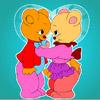 Krásny medveď sfarbenie hra