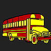 Largo autobús escolar para colorear juego