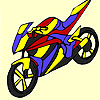 Long road motorcycle coloring game