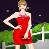 Lucy in red dress up game