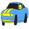 игра Великолепный голубой окраски автомобиля