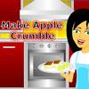 Hacer tarta de Crumble de manzana juego
